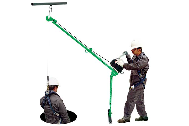 Pole Hoist with T-Bar Leg Assembly