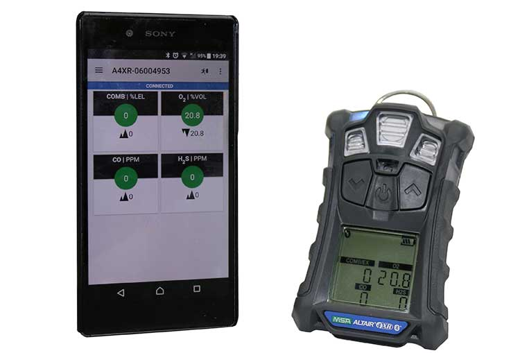 Altair 4XR connected to Phone App via bluetooth
