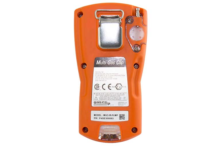 MGC P IR Gas Detector Rear View