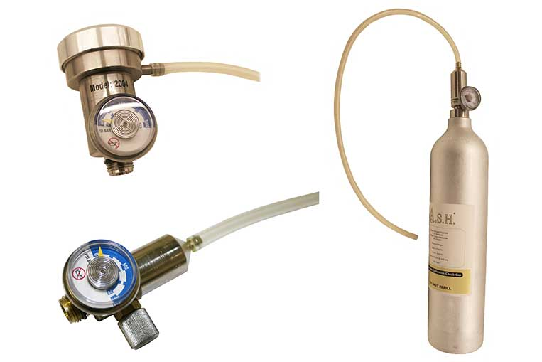 Bump test and On Demand Gas Regulators and calibration gas