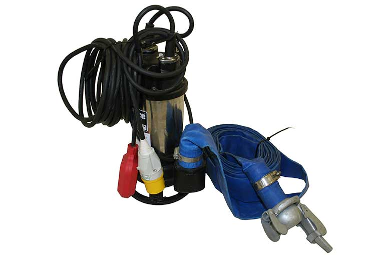 "Clarke 2"" Submersible Pump Hire Unit with Hose and 110v Plug"